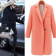All match Fall Winter Simple Fashion Woolen Jacket Women Trendy Wool Jacket 3 Colors