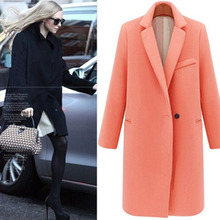 All match Fall Winter Simple Fashion Woolen font b Jacket b font font b Women b