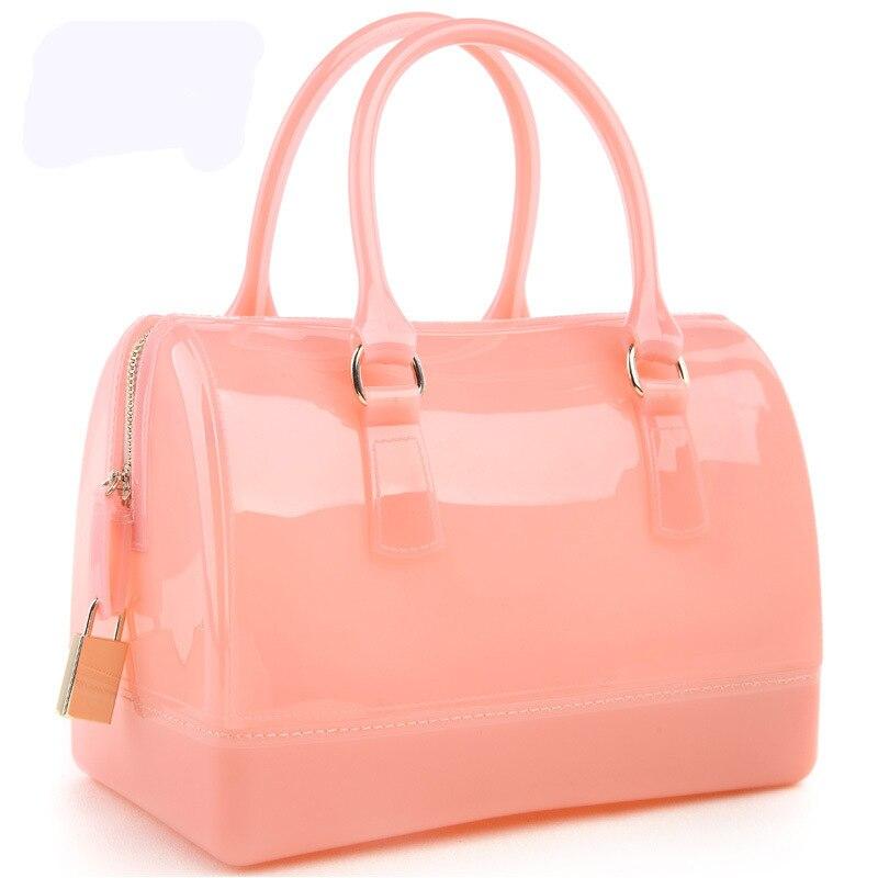 여자 핸드백 가죽 가방 새로운 젤리 캔디 베개 가기 - 핸드백 - 사진 3