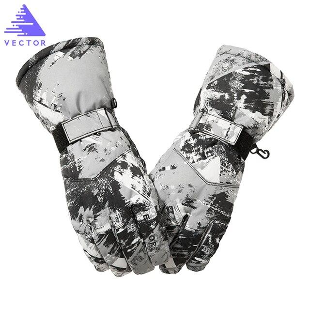 Вектор лыжные перчатки Для мужчин Для женщин теплые зимние Водонепроницаемый Лыжный Спорт сноуборд перчатки снегоход мотоциклетные уличные зимние перчатки