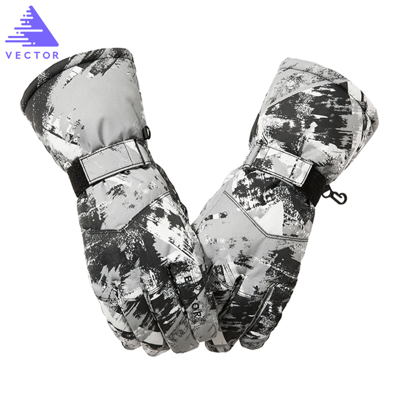 VECTOR Ski Gloves Men Women Warm Winter Waterproof Skiing Snowboard Gloves Snowmobile Riding Motorcycle Outdoor Snow Gloves цена