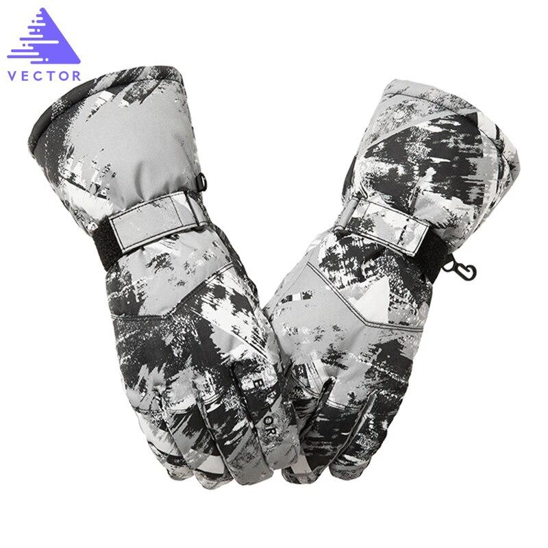 VECTOR Ski Handschuhe Männer Frauen Warme Winter Wasserdichte Ski Snowboard Handschuhe Snowmobile Fahren Motorrad Schnee Handschuhe