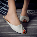 O envio gratuito de 2017 nova marca de verão Baotou chinelos de lazer feminino 5 cor 5 metros de couro das sandálias das mulheres