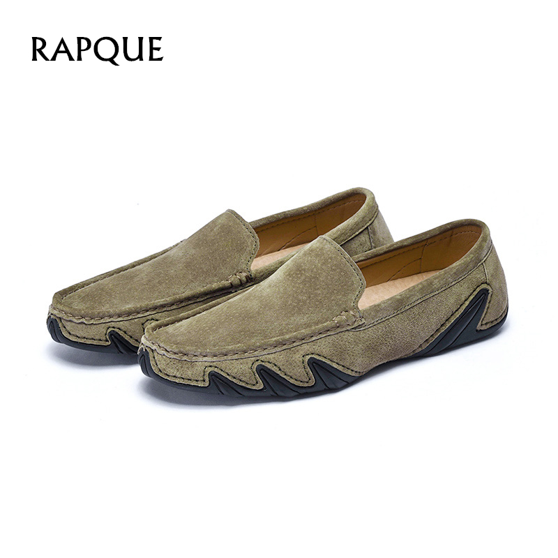 Men's Casual Shoes Mens Casual Shoes Loafers Leather Comfortable Flat Designer Octopus Feet Driving Shoes Flat Heel Leisure Indoor 9988 Rapque