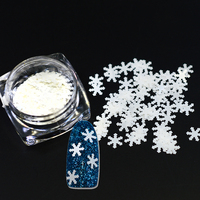 1g/bottle 3D White Snowflakes Christmas Style Nail Art Stickers 6mm Glitter Nail Gel Tools For Nail DIY Decoration SAND282