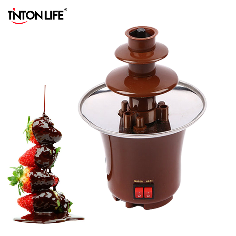tinton life creative design mini chocolate fountain for fondue machine chocolate melts with heating in chocolate
