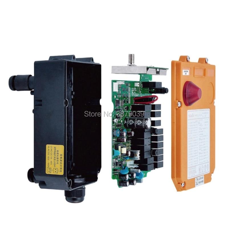 Nice UTING CE FCC F24-10D Radio sans fil industrielle Double vitesse 10 boutons télécommande (1 émetteur + 1 récepteur) pour grue - 4