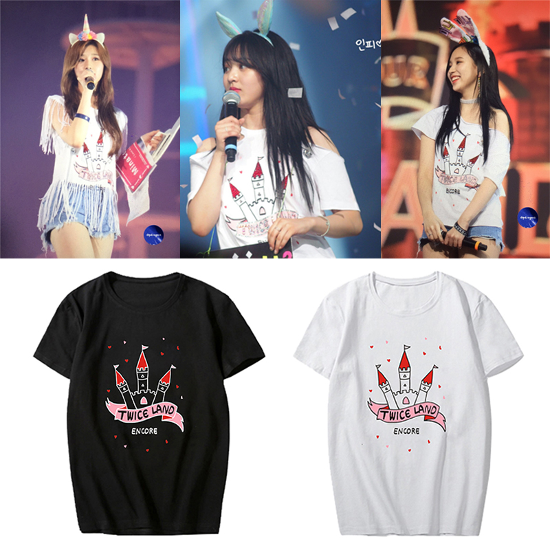KPOP Korean Fashion TWICE TWICELAND THE OPENING Album Concert Cotton Tshirt K-POP T Shirts T-shirts PT514