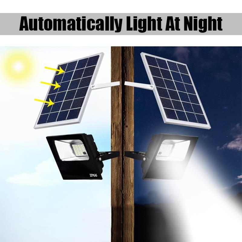Sumxi 20LED Solar Light Outdoor Timing & Remote Control Solar Flood Light Garden Garage Wall Lamp Waterproof IP65 SMD5630