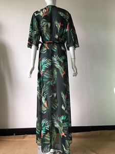 Image 4 - Cover Up Beach Wear Bikini 2019 Dresses For Women Pareo Tunics Summer 2019 Chiffon Lengthened Coastal Skirt Print Acetate Sierra