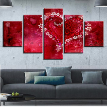 Modular Canvas Wall Art HD Prints Pictures 5 Pieces Sea Wave Beach Sunset Seascape Paintings Living Room Decor Posters Framework unframed sea wave and beach pattern canvas paintings