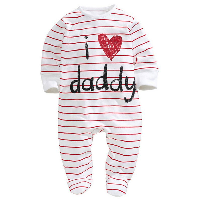 2017 New Arrived Funny Love Mummy Daddy Newborn Jumpsuit Cotton Long Sleeve Rompers  Baby Clothes 0-3Y warm thicken baby rompers long sleeve organic cotton autumn
