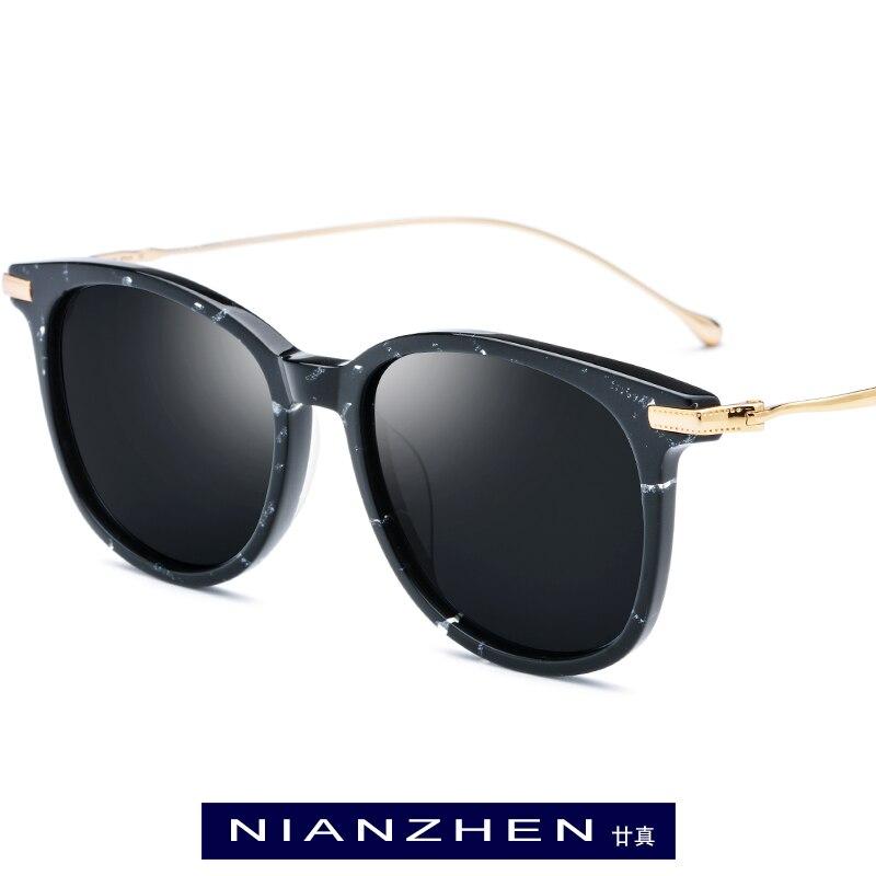 Titanium Acetate Sunglasses Men 2019 New Fashion Polarized Sunglass Brand Designer Vintage Square Sun Glasses for
