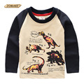 Dinosaur Printed Boys Pullover T-Shirt Spring Fashion Brand Boys Clothes Long Sleeve T-Shirts Casual Children Clothing Tops Tees