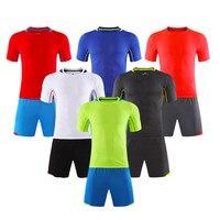 Adsmoney Training Soccer Jersey Set Kids Football Kits Youth Men Futbol Training Suit Blank Breathable Short