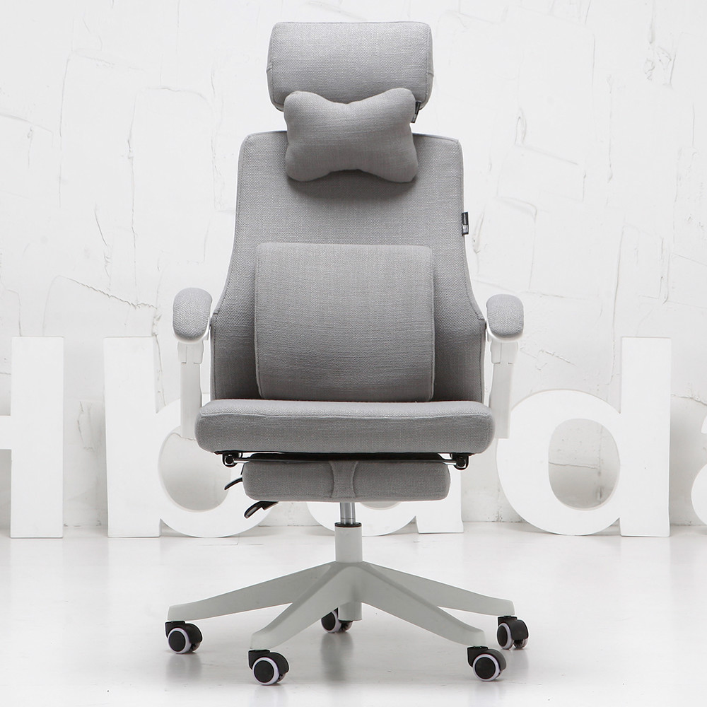 Conference Chairs Rotatable Swivel Computer Chair Ergonomic Leisure Office Chair Lifting Siesta Lying Footrest Lengthen Backrest Linen Cushion The Latest Fashion
