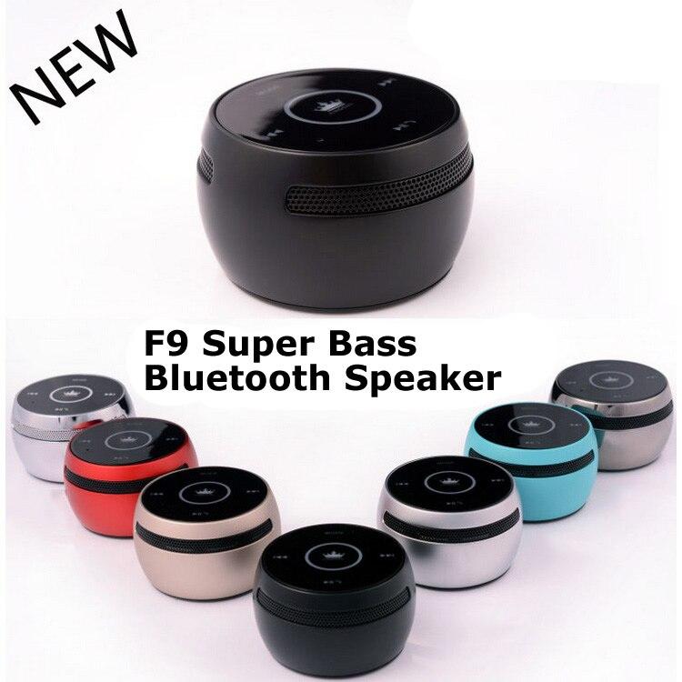 Original F9 Bluetooth haut-parleur métal musique tambour TF carte jouer mains libres micro tambour Super basse son haut-parleur pour téléphone tablette PC