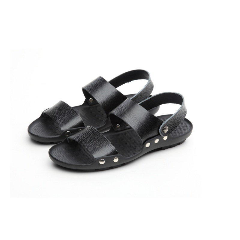 Top quality sandal men sandals summer genuine leather sandals men boy outdoor shoes men soft comfortable leather sandals