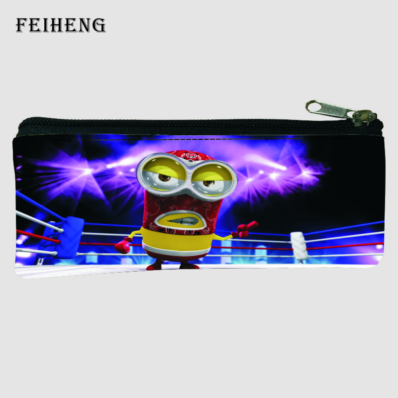 Hot New Prints Cartoon Minions Kids Pen Bags Boys Coin Purses Baby Children School Pencil Bag for Girls Key Wallets Womens Gift