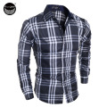 Men Shirt 2017 Fashion Men'S Long-Sleeved Shirt Male Irregular Stripes Brand Camisa Masculina Casual Slim Male Shirts L