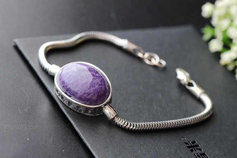 Jewelry batch of purple dragon crystal silver bracelet 925 pure silver lady vintage bracelet чехол из натуральной кожи для случая gionee s10 природная жемчужная кожаная обложка для чехла m6 plus