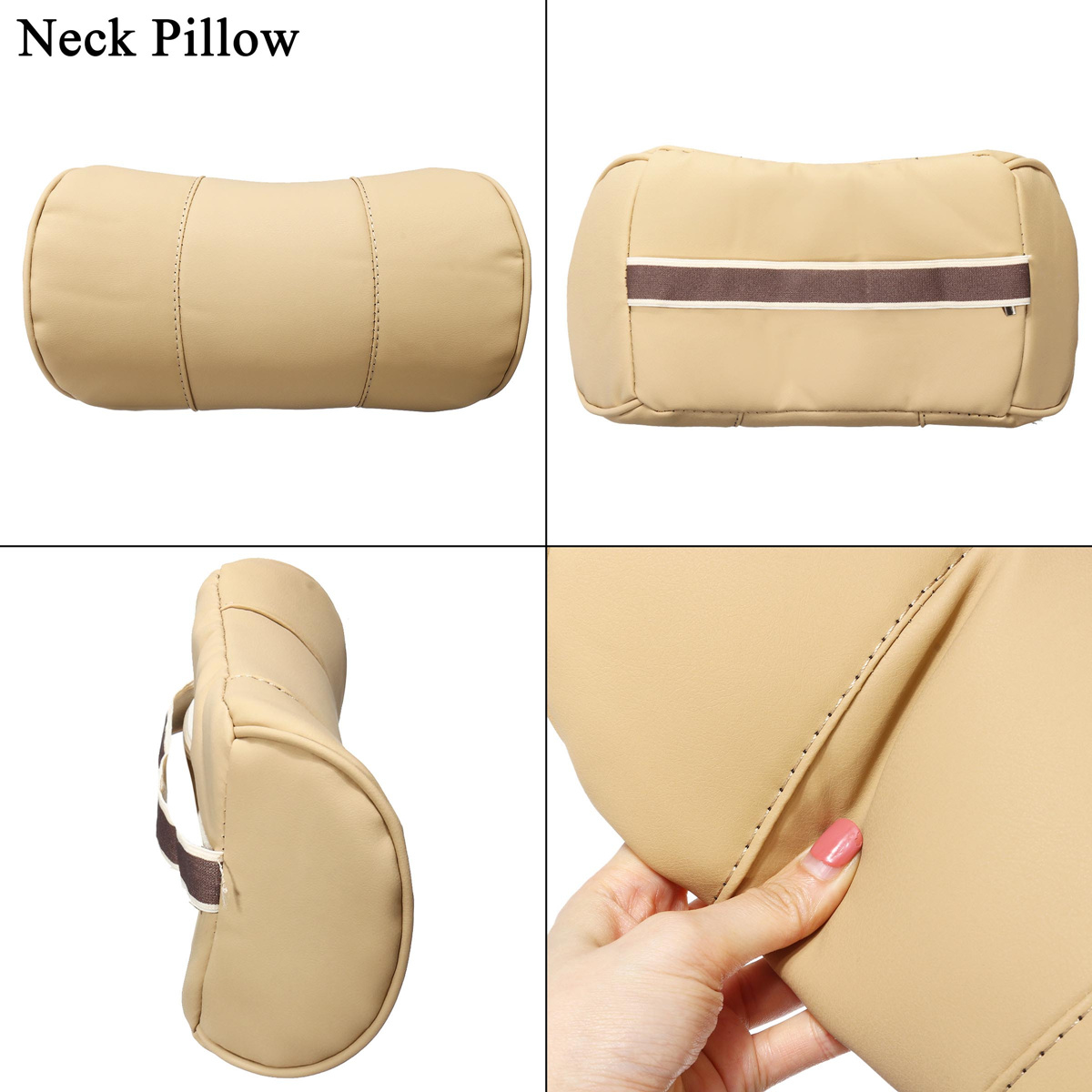 Removable Lumbar Pillow for Car Made with High Density Memory foam and PU Leather for Back Pain relief 13