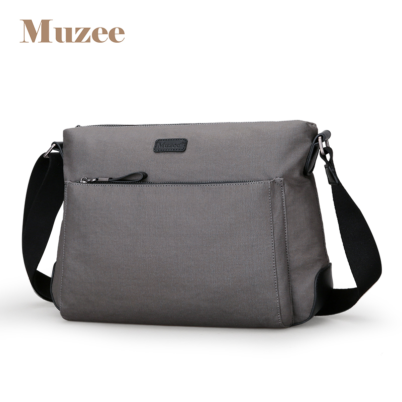 Muzee Canvas Water Repellent Crossbody Bag Men Shoulder Bag and Message Bag New Fashion Weekend Trend