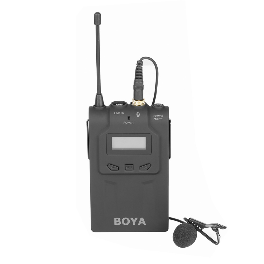 BOYA BY-WM6T Wireless Transmiter compatible with BY-WM6 BY-WM8 Reveiver (Receiver sold separately).