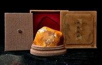 Свадебные украшения 7 Natural Tianhuang Шушан камень Shanzi сосна старая человек печать штамп перстень Box set