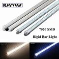 New arrival 5pcs 7020 SMD super bright led rigid bar light 50cm 36LED Light strip with aluminum profile & pc cover lighting tube