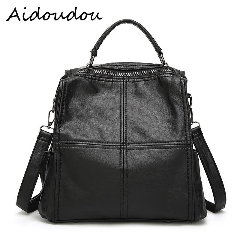 New arrival Multi function Leisure Shoulder Bags aslant bags Women Genuine Leather Backpack water proof School