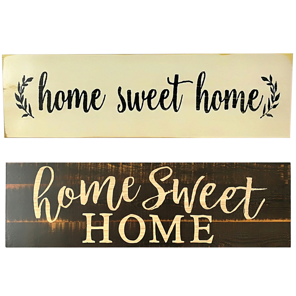 Home Sweet Home Wall Decor.Us 7 05 35 Off Rectangular Home Sweet Home Script Design Large Rustic Retro Wood Sign Wall Decoration Vintage Chic Sign Wooden Home Decor In Plaques