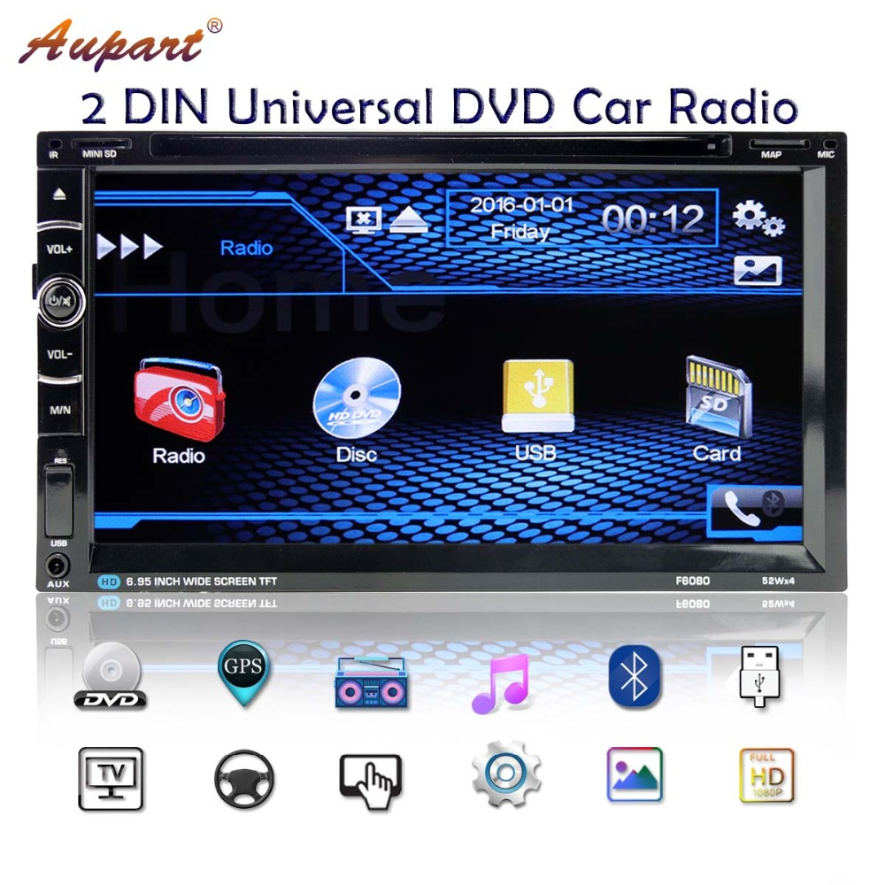 Car Radio 2 Din Car GPS Navigation Autoradio auto radios DVD Car Multimedia Player Subwoofer Touch Screen Rear view camera-in Car Multimedia Player from Automobiles & Motorcycles