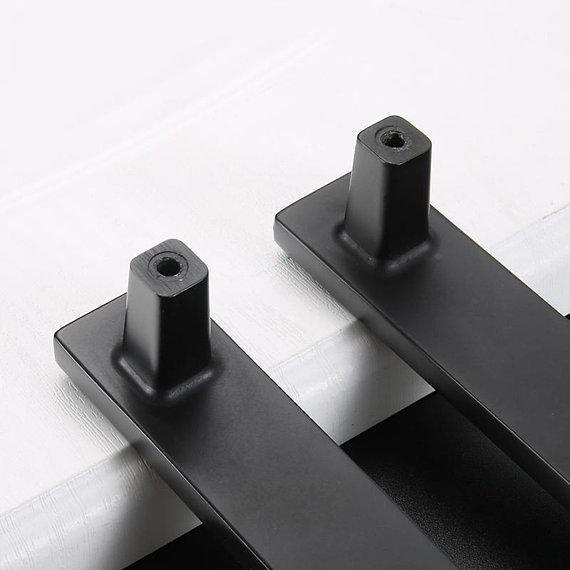 Купить с кэшбэком 3.75'' 5'' 6.3'' 7.55'' Rhinestone Black Drawer Pull Handle Knob Cabinet Pulls Handles Kitchen Door Handles Knob Dresser Knob