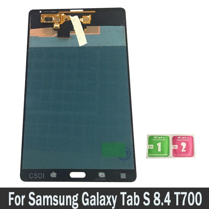 Nouvelle D'origine Pour Samsung GALAXY Tab S 8.4 T700 Tablet Lcd Écran Tactile Digitizer Capteurs Plein Panneau de Montage de Pièces De Rechange