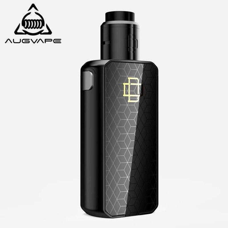 Augvape Druga Foxy Elektronische Zigarette Kit Quick Release Patent Druga RDA 150 w Dual 18650 Batterie VV Mod Widerstand Vape kit