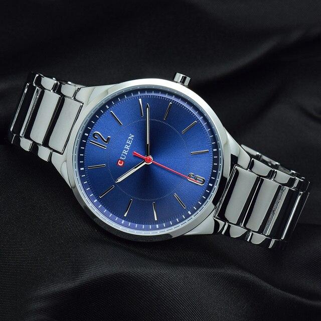 CURREN New Men Watch Top Brand Men's Fashion Gold Quartz Wrist Watches Male Stainless Steel Analog Sport Watch Relogio Masculino 4