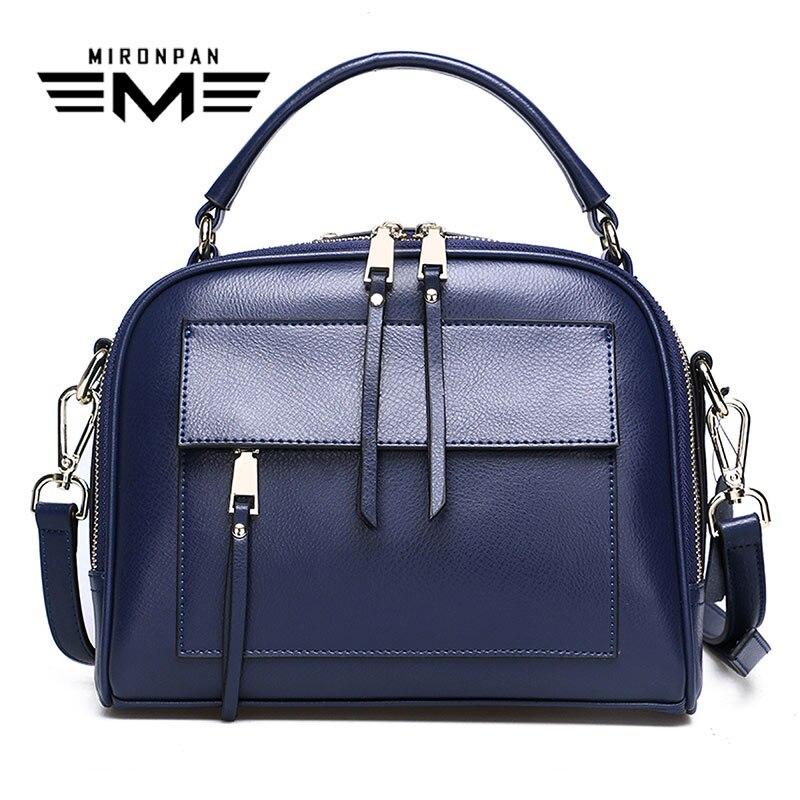 MIRONPAN real leather tote bag Female Original Shoppin Party Business Single Bag Women Soft Zippe Handbag
