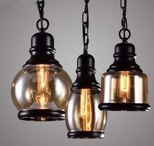 Loft Stil American Industrial Retro Klassischen Eisen Glas Pendelleuchte Wohnzimmer Lampe Restaurant Dekoration Freies Ver