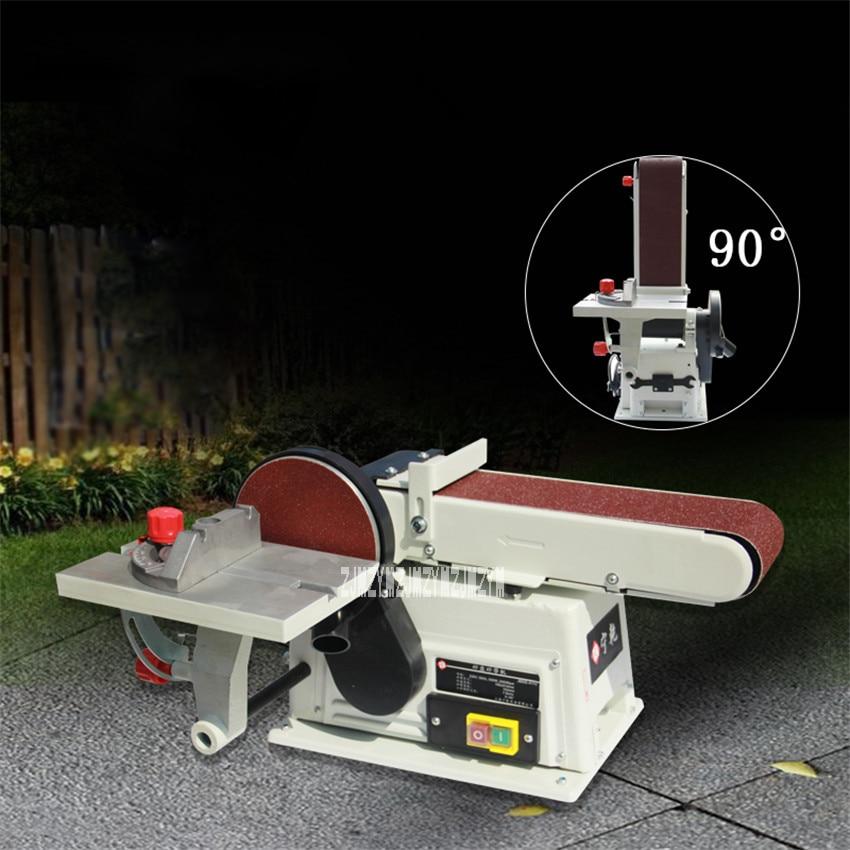JBDS-4115 Desktop Belt Machine Grinder Household Multi-function Polishing Machine Electric Sand Drum Grinder 220V 500W 2950rpm