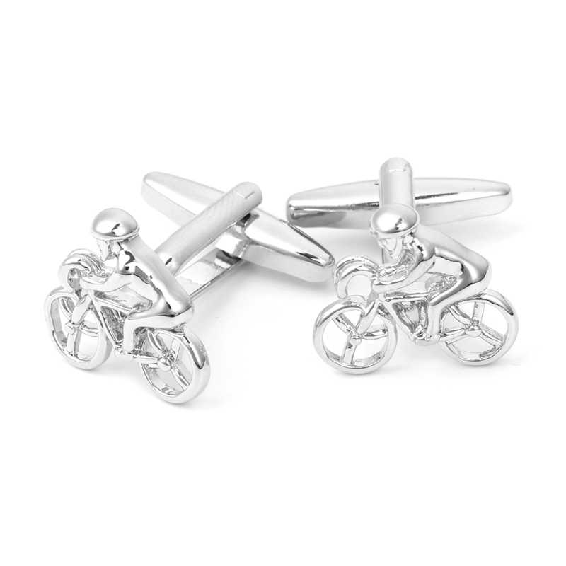 Classic Bici Rider Mens Shirt Matrimonio Affari Gemelli Cuff Links Regalo