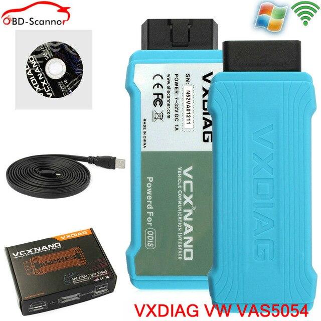 original vxdiag vas5054a full chip oki WIFI Version oki uds odis software For Audi/VW/Skoda vas5054 oki obdii scanner vas 5054