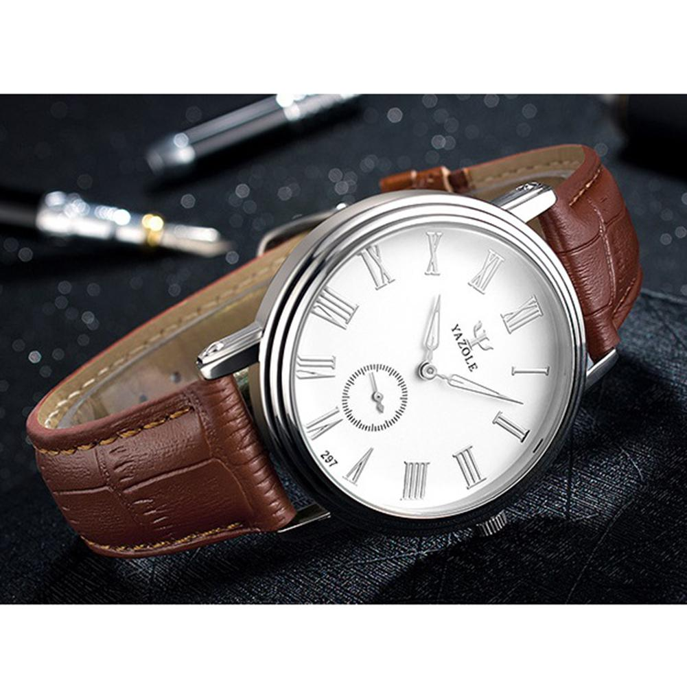 LinTimes Men Stylish Business Quartz Watch Blue Glass Ultra-thin Wrist Watch Perfect Ornament Gift