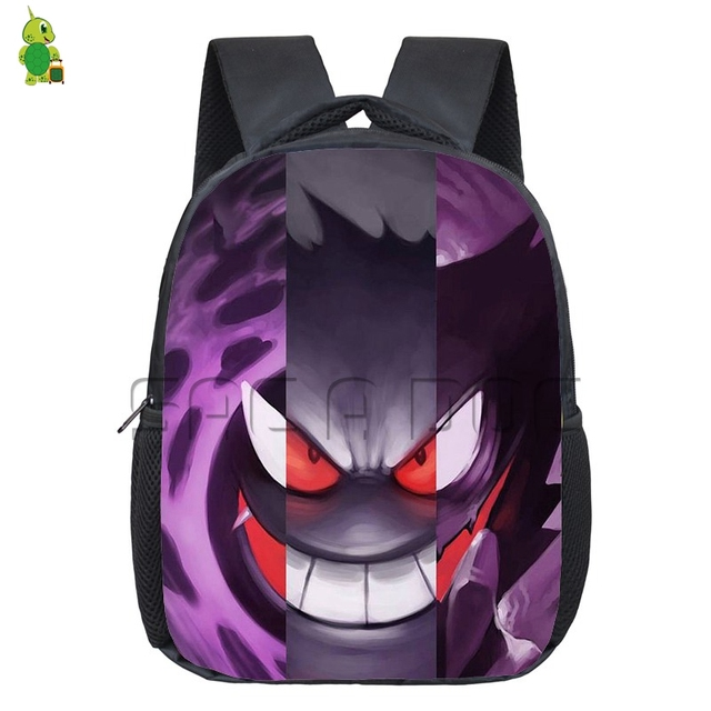 Pokemon Gastly Haunter Gengar Split Backpack Boys Girls Daily Bags Pikachu  Mewtwo Kindergarten Backpack Children School 282f68feb790a