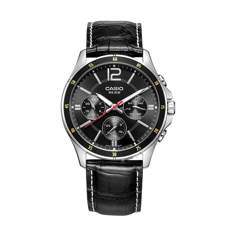 Casio watch black simple quartz men's watch MTP-1374L-1A