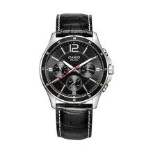 Casio watch black simple quartz men's watch