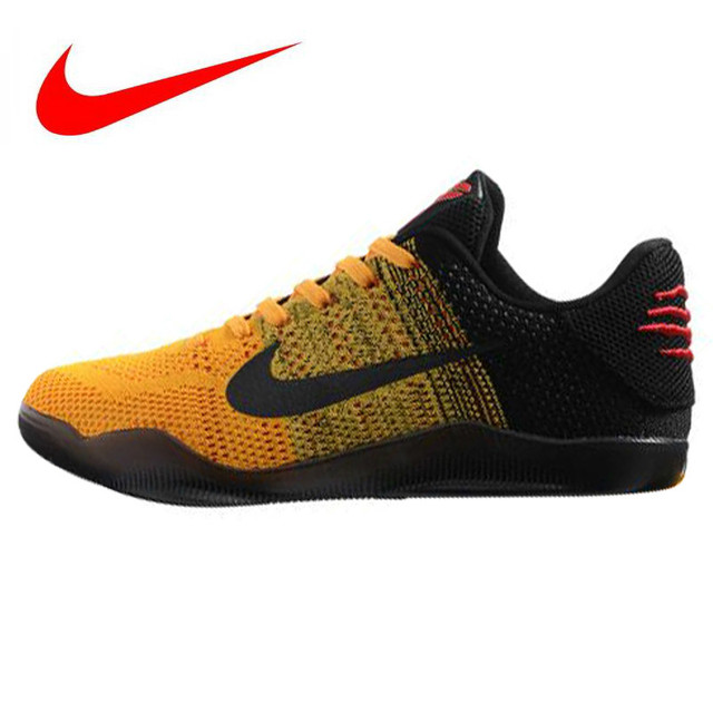 the latest 0790a e6182 Nike Kobe 11 Elite Low Bruce Lee Men s Basketball Shoes, Abrasion Resistant  Breathable Non-Slip, Yellow   Black 822675 706