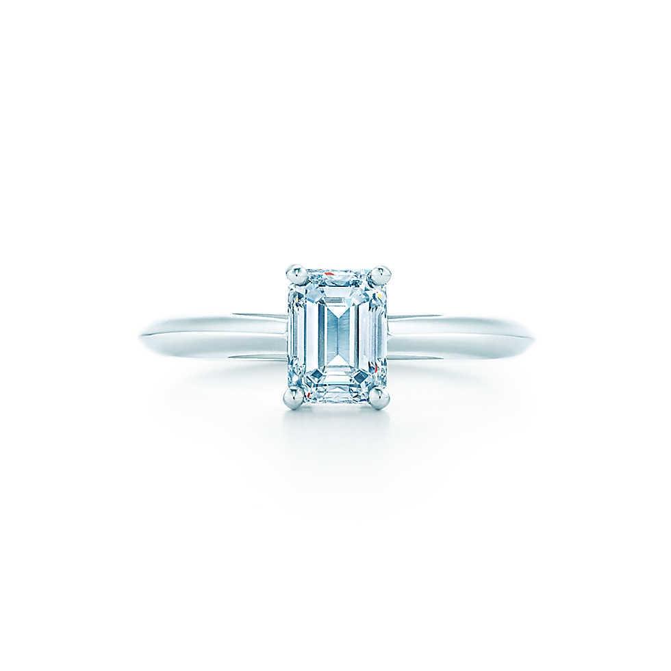 emerald cut halo cz engagement ring emerald cut wedding rings Karda s 3 5ct Emerald Cut CZ Halo Engagement Ring
