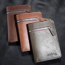 Hohe Qualität aus echtem Leder kurze Brieftaschen, Doppel-Deck Rindsleder Männer kurze Geldbörse, Geldbeutel Karte Paket Geldbörse Geburtstagsgeschenk