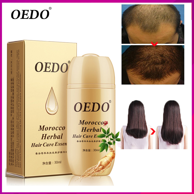 OEDO Morocco Herbal Ginseng Hair Care Essence Treatment For Men And Women Hair Loss Fast Powerful Hair Growth Serum Repair root серум за растеж на мигли